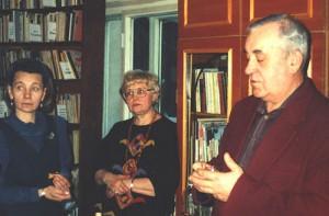 1997 год. Присвоение библиотеке имени Марка Сергеева. Слева направо: Солуянова Г.А., Иоффе Л.В., Коржановский Т.Г.