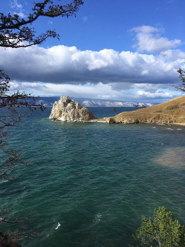 Мыс Бурхан (Шаман-скала, скала Шаманка) на о. Ольхон, оз. Байкал, одна из девяти святынь Азии. Расположен мыс вблизи пос. Хужир.