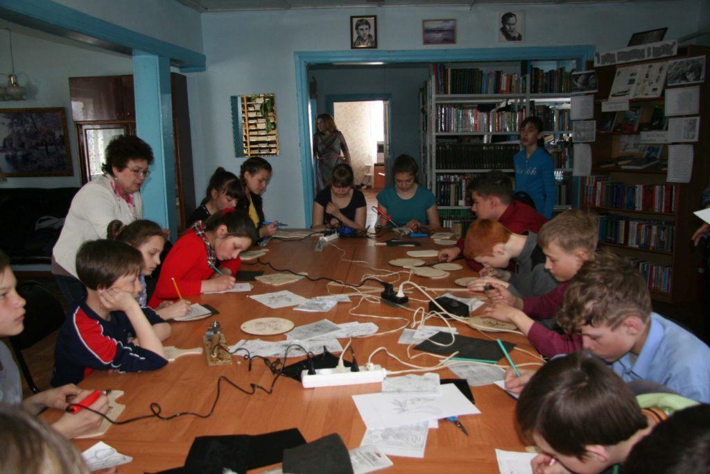 Балаганск мастер-класс Нина Иванова выжигание Иркутская областная детская библиотека им. Марка Сергеева
