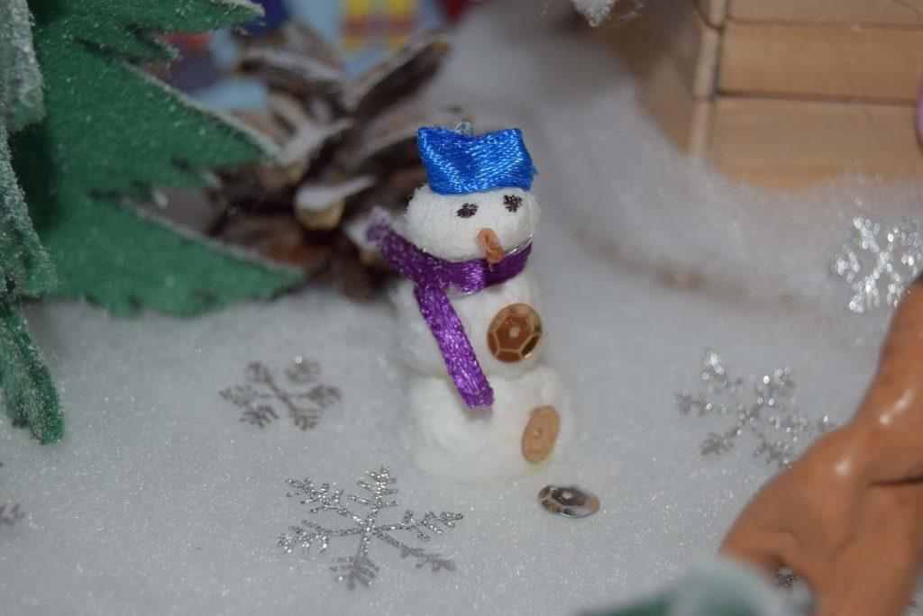 поделка снеговик