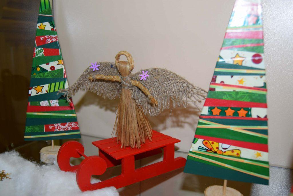 поделка ангел на санях