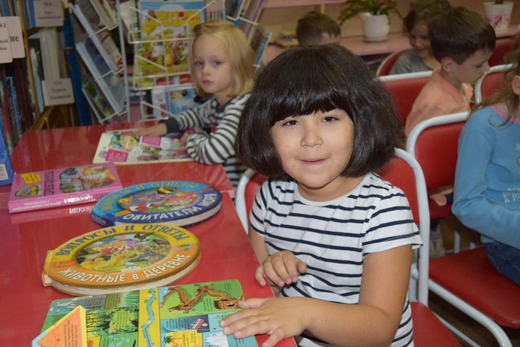 дети книги зал столы